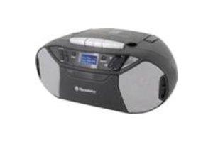 Roadstar Boombox Radio/CD/MP3/Casette-speler - zwart