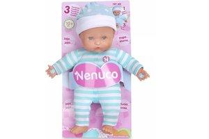 Nenuco soft baby 25cm met 3 functies - blauw