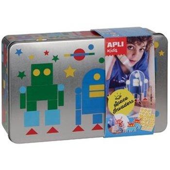 "Apli Kids Sticker Spel metalen doos ""Robots"""