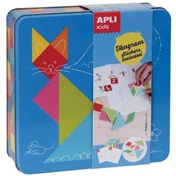 "Apli Kids Sticker Spel metalen doos ""Tangram"""