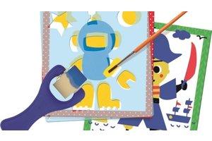 Jumbo Dessineo Schilderen met sjablonen - Personages