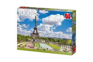 Jumbo Puzzel (1000stuks) - Premium Collection - Eiffel Tower in Summer, Paris