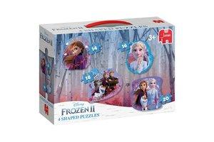 Jumbo Vormenpuzzel 4-in-1 (14/16/18/20stuks) - Disney Frozen 2