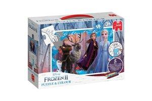 Jumbo Disney Frozen 2 - Puzzel & kleur (18stuks)