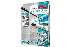 Bruynzeel Paint your own picture blue colors starterspakket