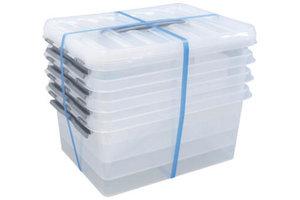 Suware Q-line Box 15L transparant/metaal (3+1 gratis)