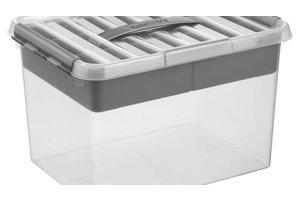 Suware Q-line MultiBox 22L - transparant/metaal