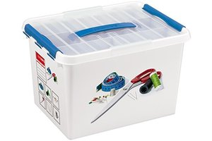 Suware Q-line NaaiBox 22L met inzet - wit/blauw
