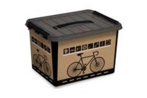 Suware Q-line Fiets Box 22L met inzet zwart/transparant-zwart