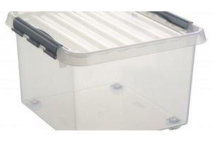 Suware Q-line rollerbox 26L transparant/metaal
