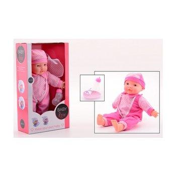 Baby Rose Pop met geluid in open touch doos - 40cm