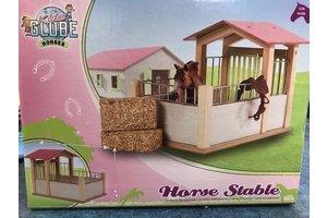 Paarden wasbox (15x17,5x12cm) - roze