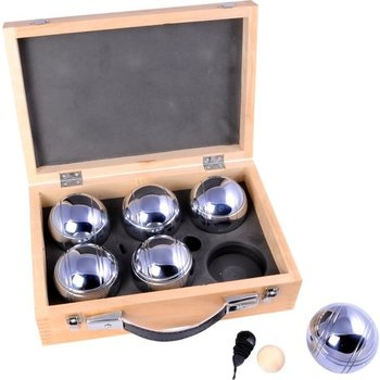 Angel Petanque ballen in houten koffer - 6stuks
