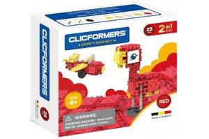 Clics Clicformers - Craft Set Rood 2-in-1 (25stuks)