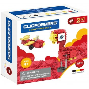 Clics Clicformers - Craft Set Rood 2-in-1 (25stuks)