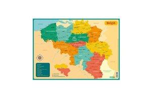 Deltas Educatieve onderleggers - Kaart België