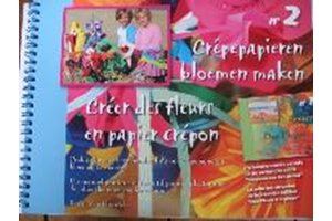 Crêpepapieren bloemen maken