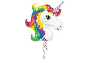 Rainbow Unicorn SuperShape Folie ballon 83x73cm (metallic)