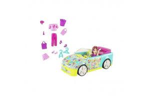 Mattel polly pocket blauwe auto