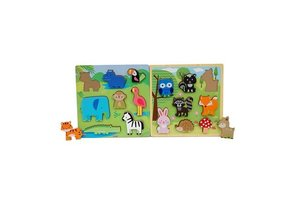 First Learning Puzzel (hout) - Dieren
