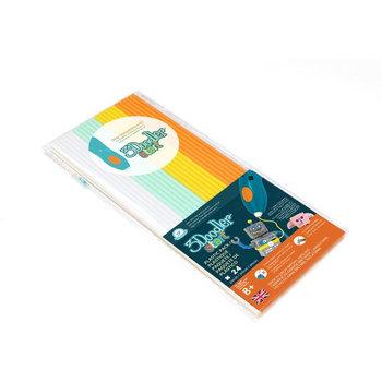3Doodler navulling met 24 kleurstaafjes - Mix 1 (wit/mint/geel/oranje)