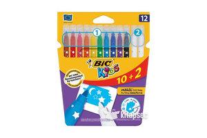 Bic BIC Kids viltstiften Magic Felt Pens - 10+2 gratis