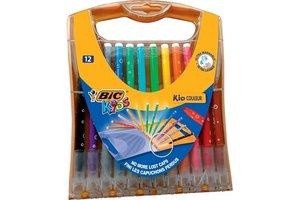 Bic BIC Kids viltstiften Kid Couleur Rainbow Case - 12stuks