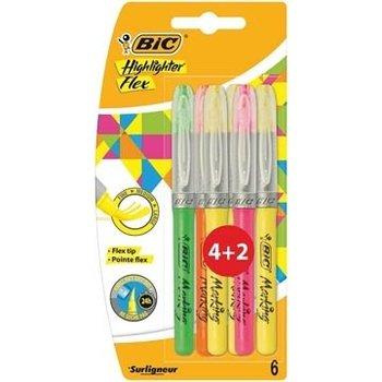 Bic BIC Markeerstift Highlighter Flex - 4+2 gratis
