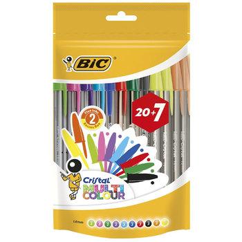 Bic BIC Balpen Cristal Multicolour Medium - assorti (20+7 gratis)
