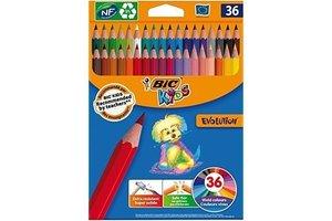Bic BIC Kids Kleurpotloden ECOlutions Evolution Triangle - 36stuks