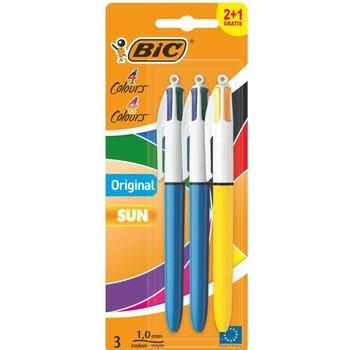 Bic BIC 4-kleurenbalpen Original/SUN - 2+1 gratis