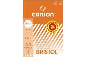 Canson Canson Tekenblok Bristol A4 (210x297mm) 224gr/24vel - wit