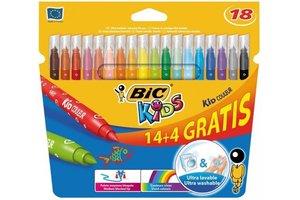 Bic BIC Kids viltstiften Kid Couleur - 14+4 gratis