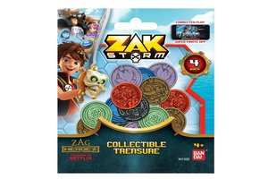 Bandai Zak Storm - Te verzamelen schat (4 muntstukken)