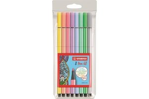 Stabilo Stabilo Pen 68 Pastel - Etui 8stuks