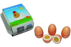 Eieren (splitsbaar) in kartonnen doosje - 4stuks