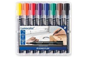staedtler Lumocolor Permanent-Marker 2mm/ronde punt - 8stuks