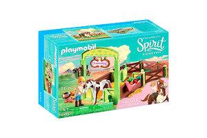 Playmobil PM Abigail & Boomerang met paardenbox