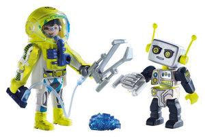 Playmobil PM DuoPack Astronaut en robot