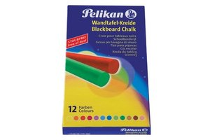 Pelikan Pelikan Schoolbordkrijt 745/assorti kleuren - 12stuks