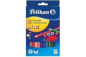 "Pelikan Pelikan Kleurpotloden (driehoekig) ""JUMBO"" 17,5cm - 12stuks"