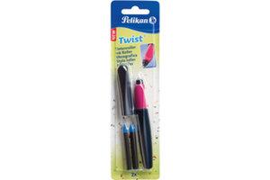 Pelikan Twist inktroller Blauw/roze