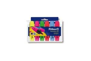 Pelikan Pelikan Textmarker Fluo 490 - 6stuks (geel/roze/groen/oranje/blauw/rood)