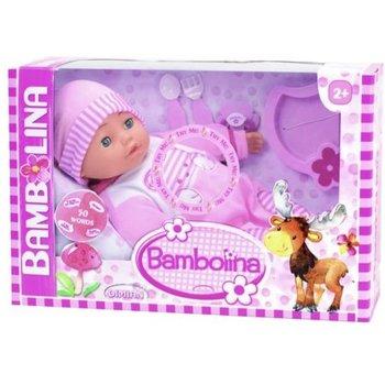 Bambolina Babypop 40cm met 50 woordjes (Engels) + accessoires