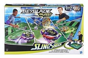 Hasbro Beyblade Burst Turbo SlingShock Cross Collision Battle Set