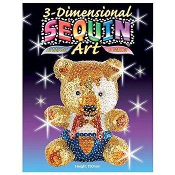 3D Sequin Art - Teddybeer