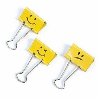 Rapesco Papierklemmen Emoji 32mm - 20stuks (geel)