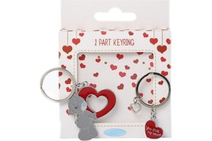 Lannoo Me to You Keyring metal - You Stole My Heart (2-delig)