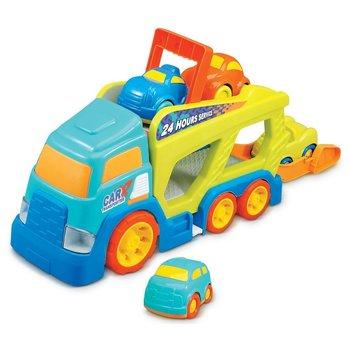 Autotransporter + 4 wagens met licht/geluid
