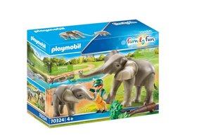 Playmobil PM Family Fun - Olifantenverblijf